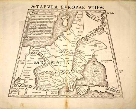 Карта Сарматской Европы