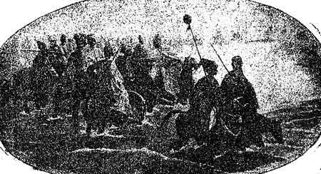 Казаки отстаивают родину против татар