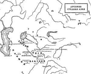 Карта древней средней Азии